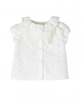 Blusa Blanco Perforada NANOS Bebe Niña
