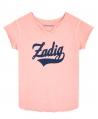 Camiseta Niña ZADIG & VOLTAIRE Rosa Cuello Tunecino