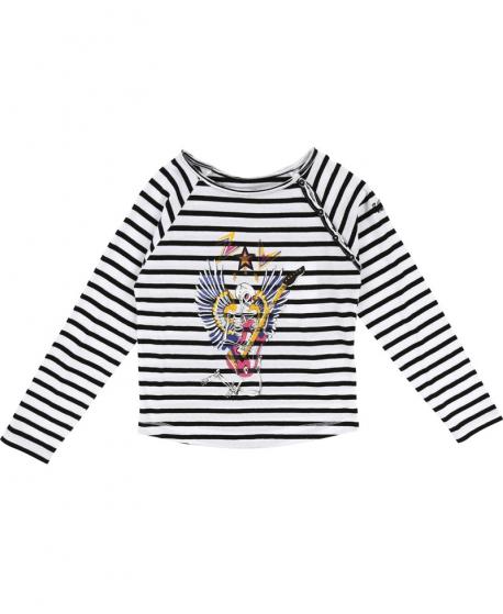 Camiseta Niña ZADIG & VOLTAIRE Rayas Esqueleto