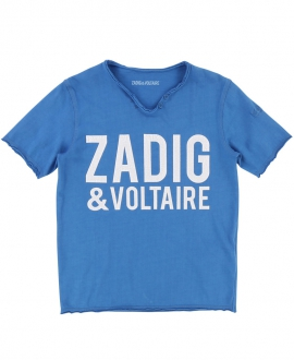 Camiseta Niño ZADIG & VOLTAIRE Azul Cuello Túnez