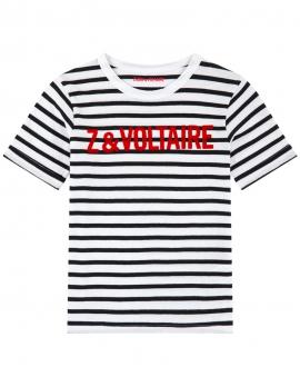 Camiseta Niño ZADIG & VOLTAIRE Rayas Blanco y Negro
