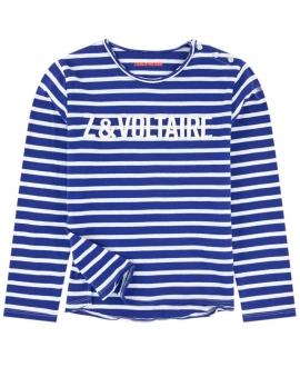 Camiseta Niño ZADIG & VOLTAIRE Azul Rayas