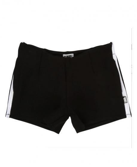 Pantalon Corto Niño KARL LAGERFELD Negro Neopreno Ligero