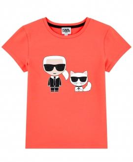 Camiseta Niño KARL LAGERFELD Gris Detalle Purpurina
