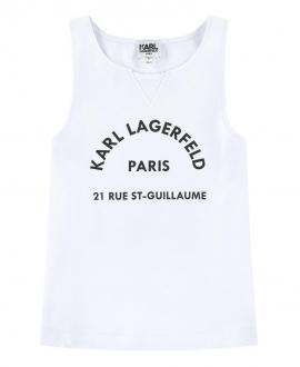 Camiseta Niña KARL LAGERFELD Tirantes Blanca