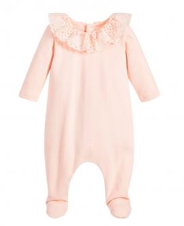Pijama Bebe CHLOÉ Cuello Volante Perforado