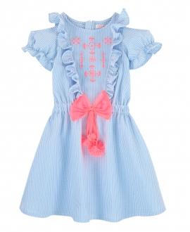 Vestido Niña BILLIEBLUSH Azul Rayas