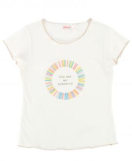 Camiseta Niña BILLIEBLUSH Blanca Sunshine