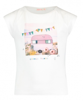 Camiseta Niña BILLIEBLUSH Blanca Flower Power