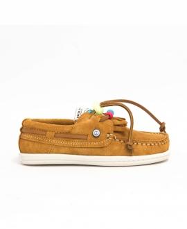 Zapatos Niño DOLFIE Landom Camel Suede