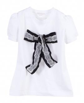 Camiseta Niña CASILDA Y Blanca Lazo tul