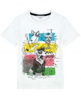 Camiseta Niño LITTLE MARC JACOB Blanco Banda