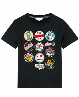 Camiseta Niño LITTLE MARC JACOB Negra