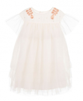 Vestido Niña CARREMENT BEAU Tul Marfil