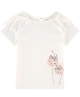 Camiseta Niña CARREMENT BEAU Blanca Impresión Flores