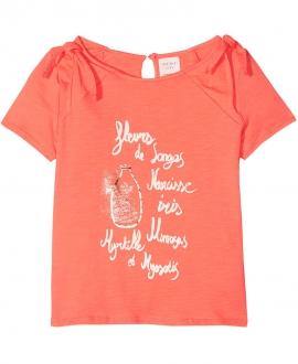 Camiseta Niña CARREMENT BEAU Naranja Nudos