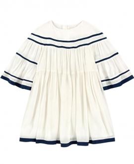 Vestido Niña CHLOÉ Crudo Crepe