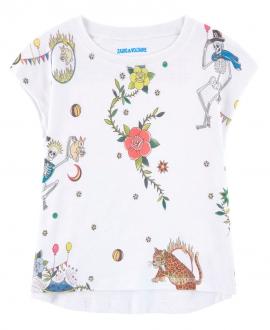 Camiseta Niña ZADIG & VOLTAIRE Blanca Circo
