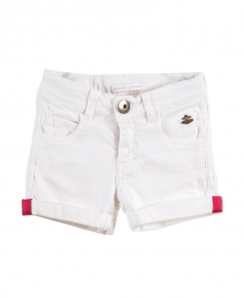 Short Niña CASILDA Y JIMENA Denim Blanco