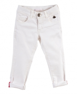 Pantalon Niña CASILDA Y JIMENA Denim Blanco