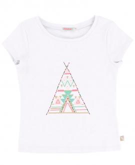 Camiseta Niña TARTINE ET CHOCOLAT Blanca Tipi
