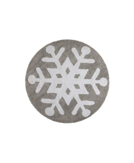 Alfombra Lavable Lorena Canals Snowflake Gris