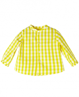Camisa Amarillo NANOS Niño Cuadros