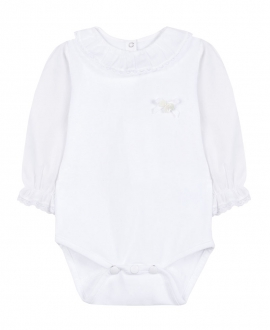 Body Bebe TARTINE ET CHOCOLAT Blanco Cuello Volante