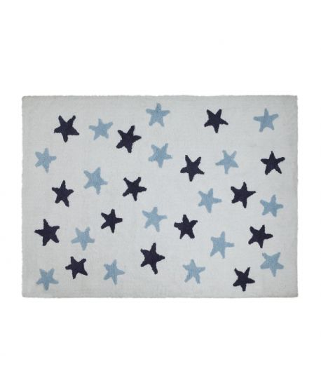 Alfombra Lavable Lorena Canals Nude Messy Stars Azul
