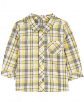 Camisa Niño TARTINE ET CHOCOLAT Cuadros Amarilla