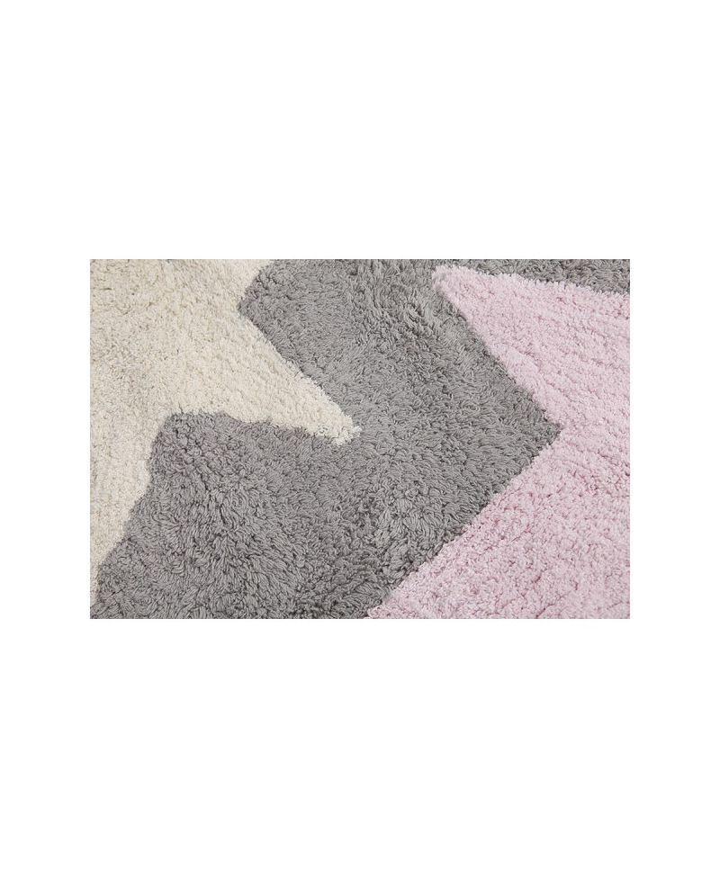 Alfombra lavable lorena canals tres estrellas rosa ro - Alfombra lorena canals ...