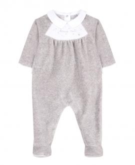 Pijama Bebe TARTINE ET CHOCOLAT Terciopelo Gris