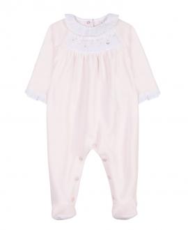 Pijama Bebe TARTINE ET CHOCOLAT Terciopelo Rosa Palo