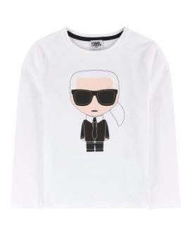 Camiseta Niño KARL LAGERFELD Blanca Dibujo Karl