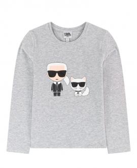 Camiseta Niño KARL LAGERFELD Gris