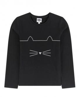 Camiseta Niño KARL LAGERFELD Negro