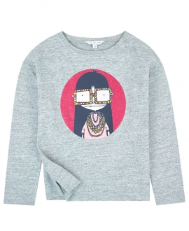 Camiseta Niña LITTLE MARC JACOB Gris Estampado
