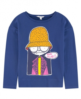 Camiseta Niña LITTLE MARC JACOB Azul Mrs Marc