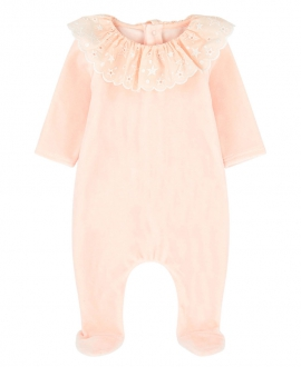 Pijama Bebe CHLOÉ Terciopelo Rosa