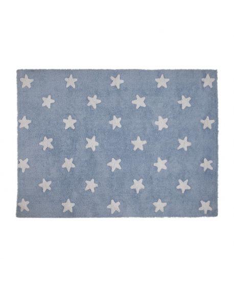 Alfombra Lavable Lorena Canals Azul Stars White