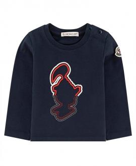 Camiseta Bebe Niño MONCLER Marino Bordada