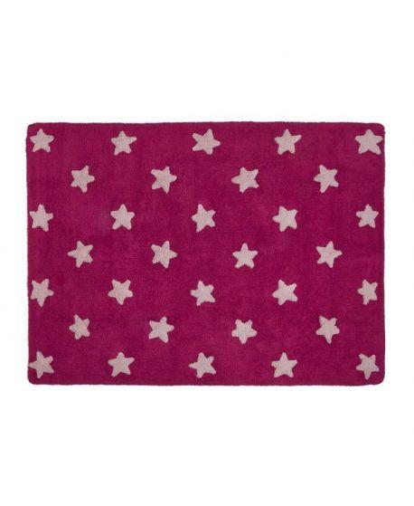 Alfombra Lavable Lorena canals Fuscia Stars Rosa