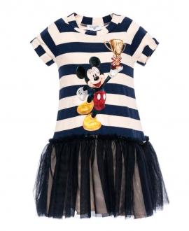 Vestido Niña MONNALISA Mickey Falda Tul