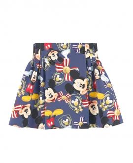 Falda Niña MONNALISA Neopreno Azul Mickey