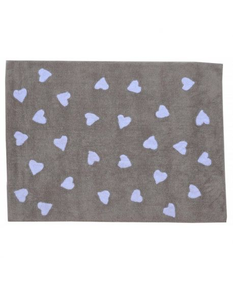 Alfombra Lavable Lorena Canals Linen Heart White
