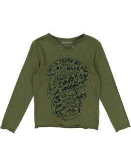 Camiseta Niño ZADIG & VOLTAIRE Cuello Tunecino Caqui