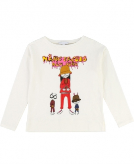 Camiseta Niña LITTLE MARC JACOB Crudo