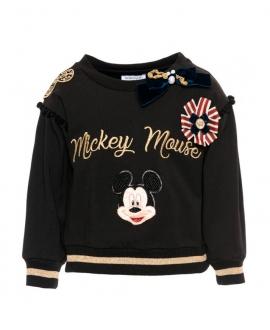Sudadera Niña MONNALISA Negra Mickey