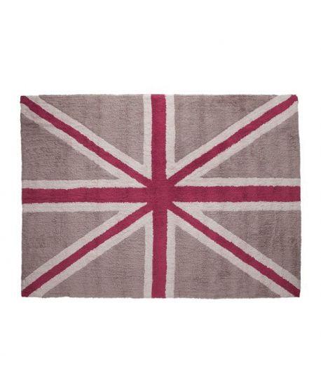 Alfombra Lavable Lorena Canals Flag Linen Fuscia