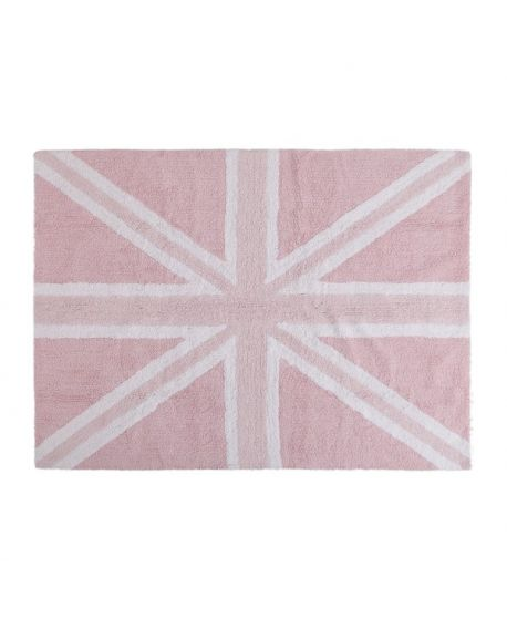 Alfombra Lavable Lorena Canals Flag England Baby Rosa